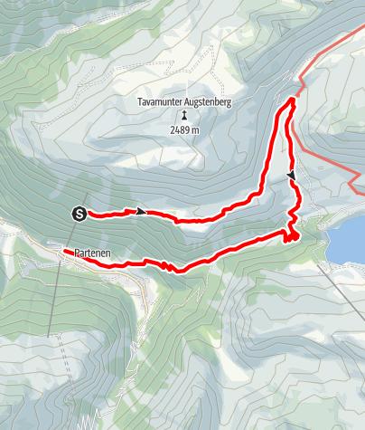 Karte / Der Landschaftspfad - vom Wiegensee zur Verbellaalpe und durchs Ganifertal nach Partenen