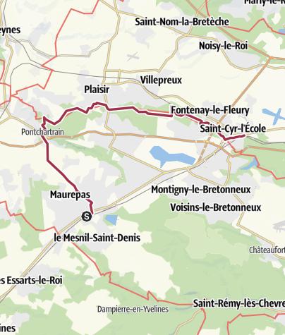 Map / Fontenay le Fleury - la Verrière