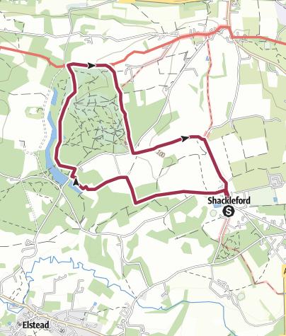 Map / Shackleford/Puttenhan Common walk (hsj)