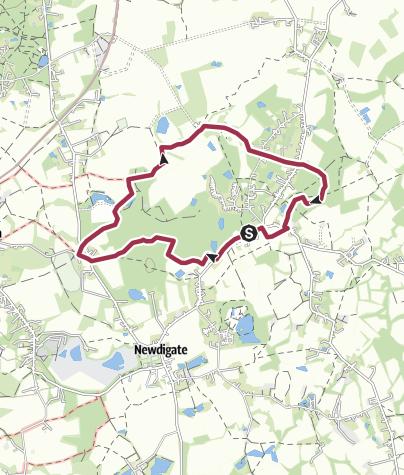 Map / Parkgate, Surrey circular walk (hsj)