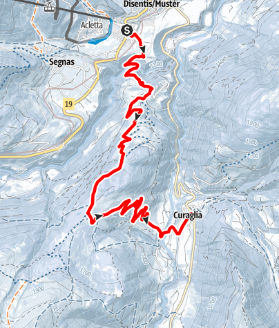 Map / Disentis - Academia Vivian -Curaglia