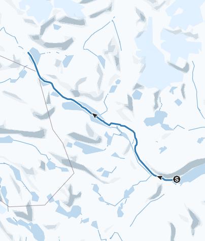地图 / Gjendebu til Leirvassbu ski