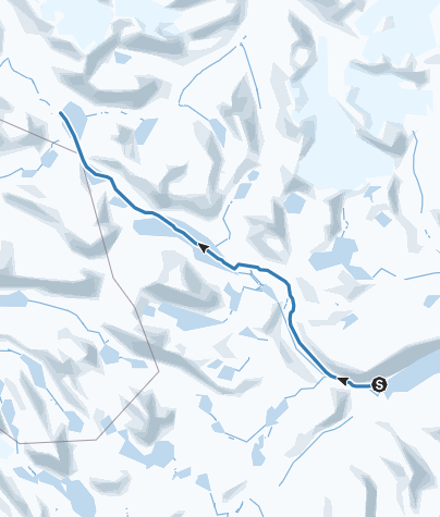 Hartă / Gjendebu til Leirvassbu ski