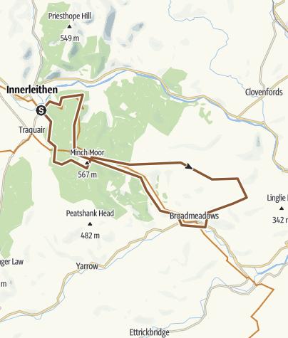 Map / Minch Moor - Innerleithen
