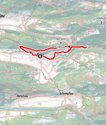 "Karte / Bizau | Goßarweag (""Ziegenweg"")"