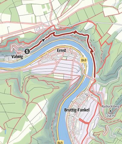 Karte / BREVA Wein & Weg (Bruttig-Fankel, Ernst, Valwig)