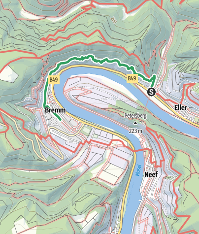 Map / Der Calmont-Klettersteig (Bremm, Ediger-Eller, Neef)