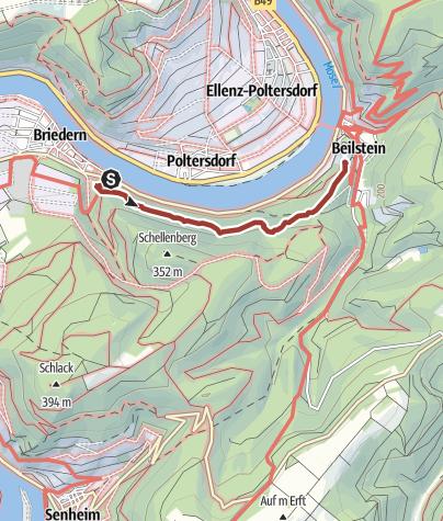 Karte / Der Wanderweg Briederner Schweiz in Briedern/Mosel