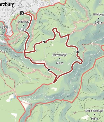 Karte / Wanderung zum Luchsgehege in Bad Harzburg