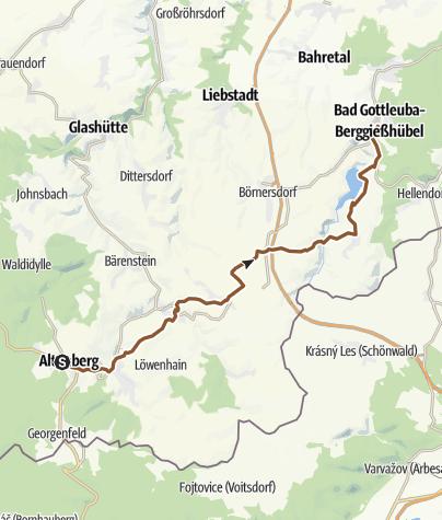 Map / Route ALTENBERG-gOTTLEUBA, 19.07.2014