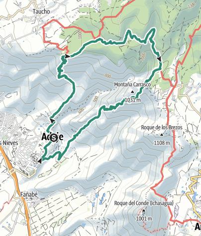 Karte / Barranco del Infierno - Umrundung