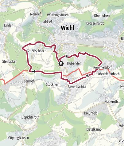 Map / Wiehl Tropfsteinhöhle 10,5 km