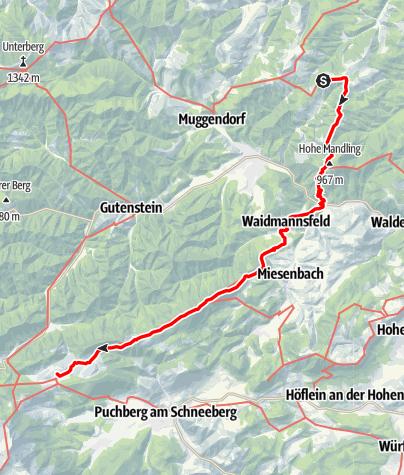 Karte / 01 Nordalpenweg, E03: Waxeneckhaus - Mamauwiese