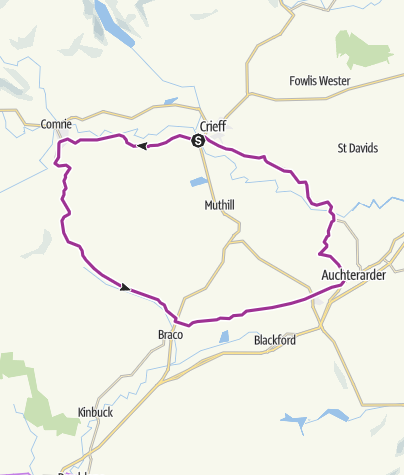 Map / Crieff circular cycle route