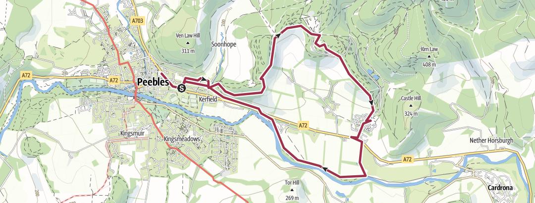 מפה / Peebles Glentress circular