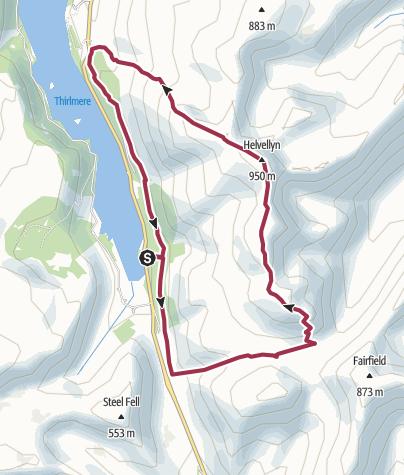 Map / Helvellyn from Wythburn