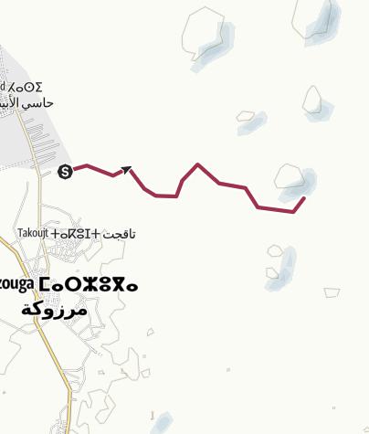 Map / Sahara Camel Trek 4/5 Sept 2014