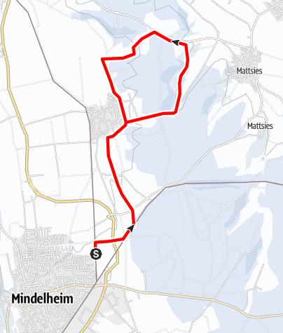 Karte / Langlaufloipe Mindelheim-Nassenbeuren