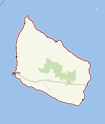 Map / Bornholm Coast Trail, Bornholms kyststier