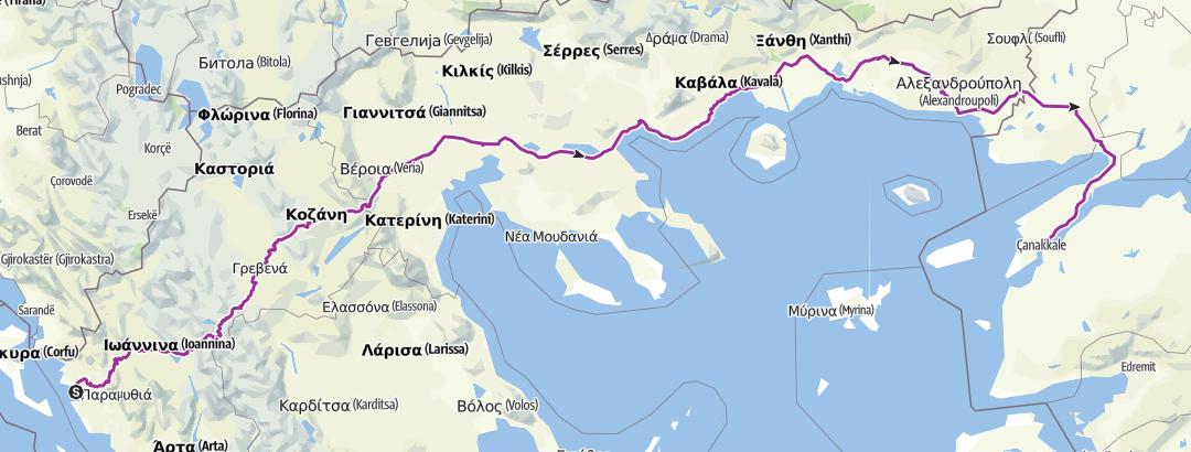 Map / WiganFethiye 2013 Greece B