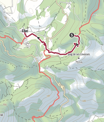 Map / Lluc to Lookout