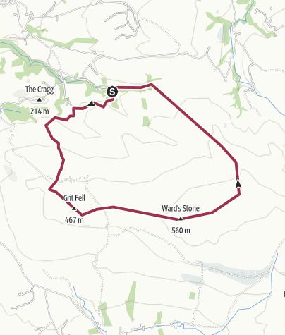 Map / F o Bowland - Littledale, Ward's Stone