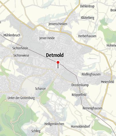 Map / Fürstliches Residenzschloß Detmold