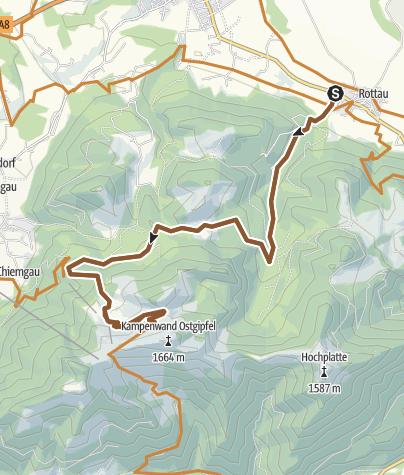 Map / MTB Tour Kampenwand