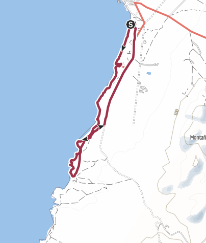 Karte / Von El Cotillo zum Playa Esquinzo