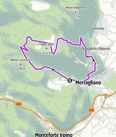Map / Campo Maggiore from Mercogliano