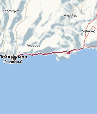 Map / Palaiochora - Sougia