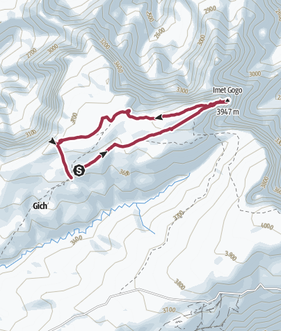 Map / Route from Simien Mts 3
