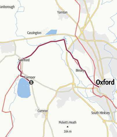 Map / Thames Path to Oxford