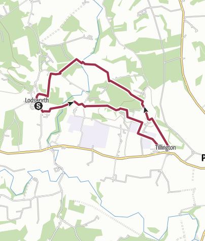Map / Lodsworth  to Tillington