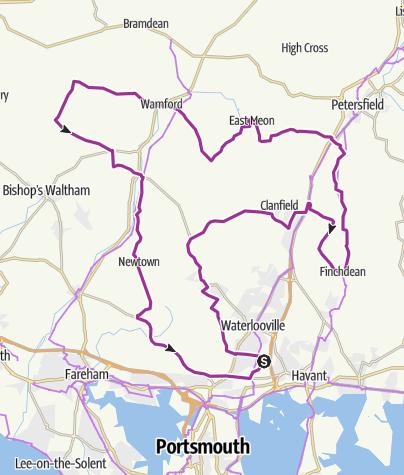 Map / Mega Meon Short 2013 - 55 Miles