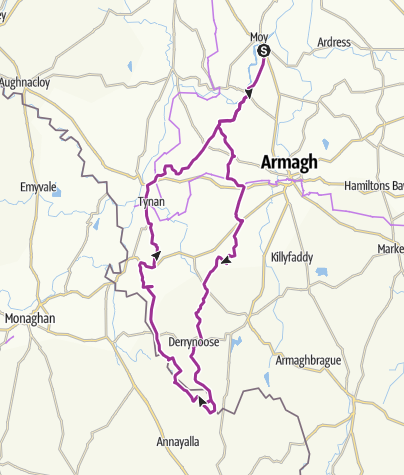 Map / Derrynoose, the border and the Monaghan Way
