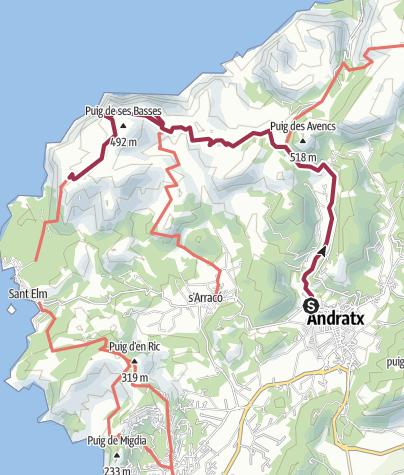 Map / 20 Sa Trapa from Andratx