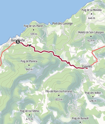 Map / 26 Banyalbufar to Esporles