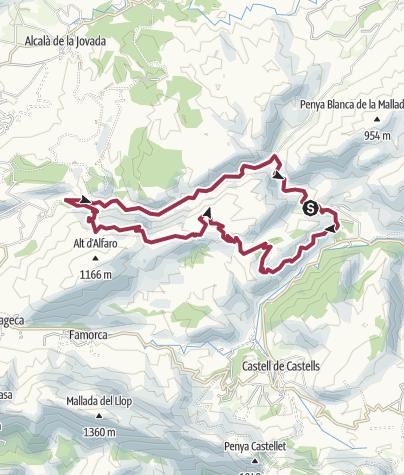 Map / 37 Serra l'Alfaro & Barranc de Malafi