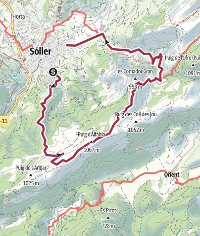 Map / 18 Alfabia Ridge