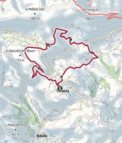 Map / 19 PR145 Parallels and Serrals via Font dels Olbis