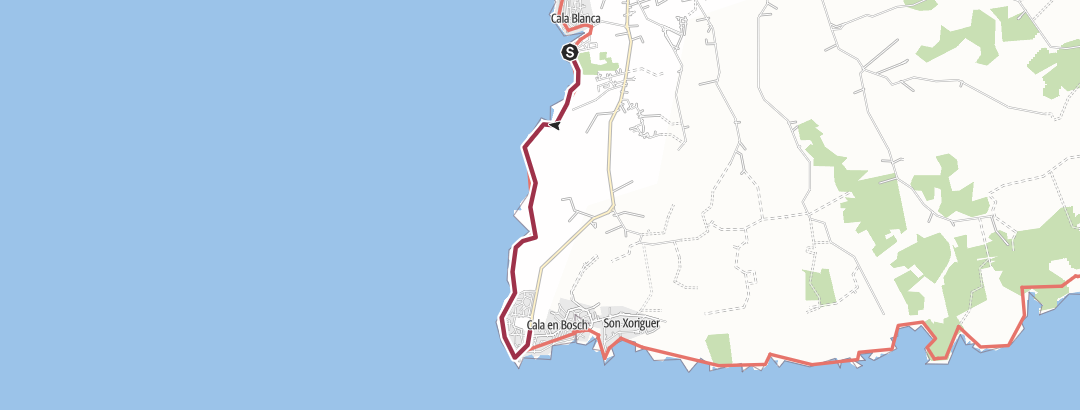 Map / 'Cala Blanca to Cap d'Artrux'