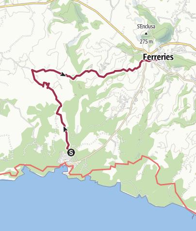Kartta / 'Cala Galdana - Ferreiras'