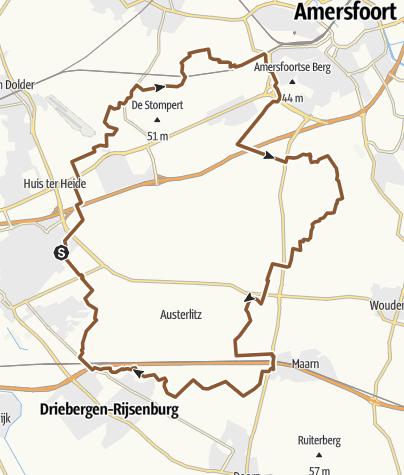 Map / MTB- route Utrechtse Heuvelrug