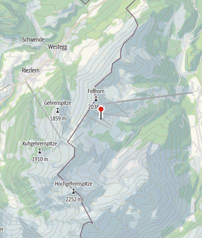 Karte / Alpe Bierenwang