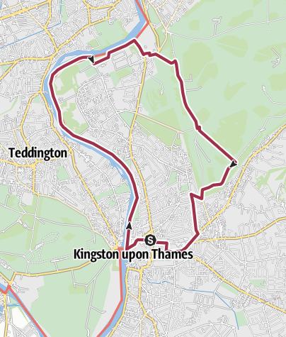 Map / Ham House from Kingston walk