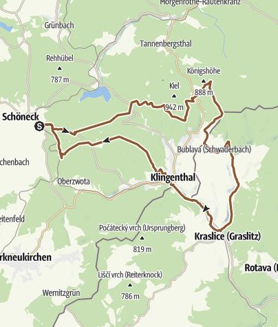 Karte / MTB-Route 9 - Über den Aschberg nach Tschechien