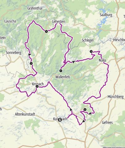 Karte / Frankenwald-Radltour