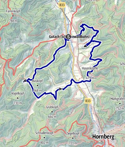 Map / Genießerpfad - Gutacher Tälersteig