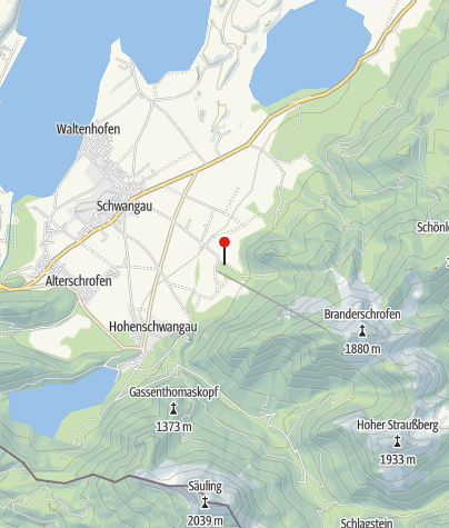 Karte / Kletterfelsen am Bergsportzentrum/ Schwangau
